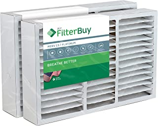 FilterBuy 16x25x5 Amana Goodman Coleman York FS1625 Compatible Pleated AC Furnace Air Filters (MERV 13, AFB Platinum). Replaces Totaline P102-1625, Day and Night MACPAK16 and more. 2 Pack.
