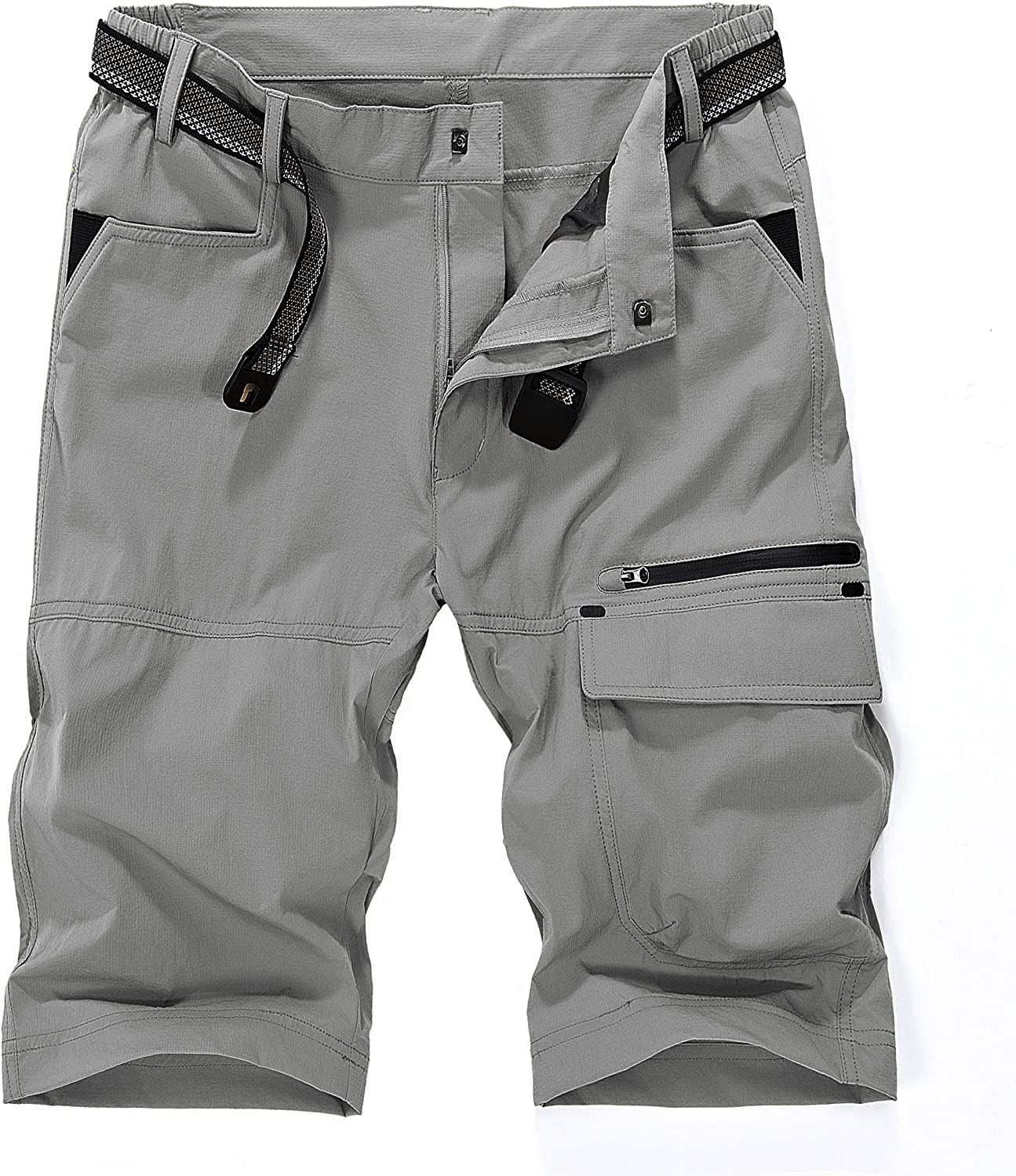 MAGCOMSEN Men's Shorts Cargo Work Hiking Tactical Shorts with 5 Pockets Quick Dry, Sun Protection, Tear Resistant