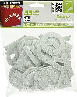 Stick It Felt 2-Inch Letters, Glimmer White 55/Pkg