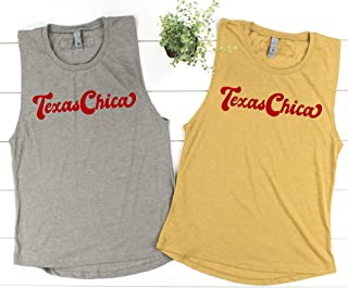 Texas Chica, Texas Muscle Shirt Tank Top, Festival Shirt