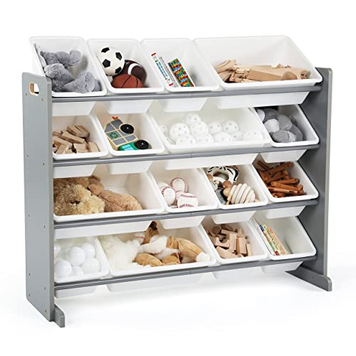 Exceptionnel Tot Tutors WO701 Springfield Collection Supersized Wood Toy Storage  Organizer Extra Large Grey/White