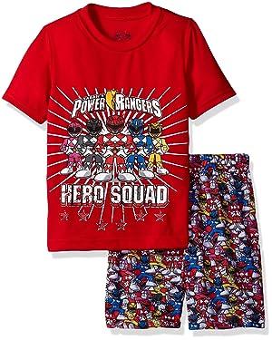 INTIMO Boys' Power Rangers Hero Pajama Short Set