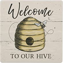 Novelty Ceramic Trivet (Welcome to Our Hive)