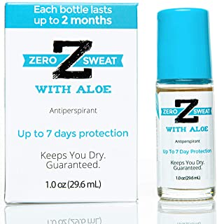ZeroSweat Antiperspirant Deodorant w/Aloe | Clinical Strength Hyperhidrosis Treatment - Reduces Armpit Sweat for Sensitive Skin