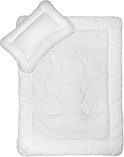 Kinder Bettdecken Set mit Bärchensteppung 40x60 cm  100x135 cm nach Öko-Tex Standard 100 zertifiziert