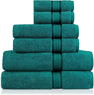 Cotton Craft - Juego de toallas de 6 piezas ultrasuaves, 100