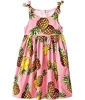 Dolce & Gabbana Kids - Tropical City Poplin Dress (Big Kids)