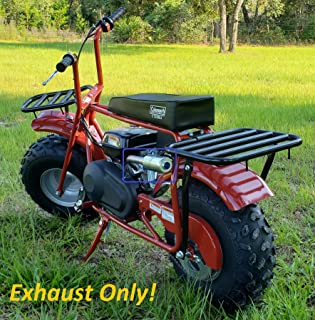 ARSPORT Exhaust with Muffler for: Coleman CT200U 196cc/6.5HP Gas Mini Bike.