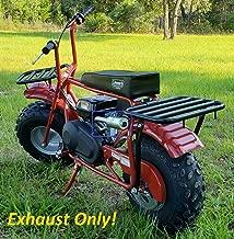 ARSPORT Exhaust with Muffler for: Coleman CT200U 196cc/6.5HP Gas Mini Bike.