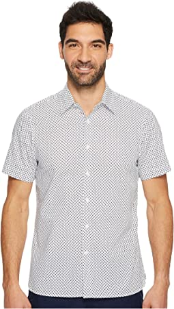 Perry Ellis - Short Sleeve Dot Printed Shirt