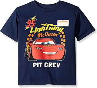 Freeze Disney Little Boys' Toddler Cars '95 Ka-Chow Toddler Boys Neon Snow Heather T-Shirt, Yellow, 2T