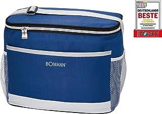 Bomann KT 6013 CB - Bolsa nevera térmica, aislante, conexión de 12 V para coche o coche, aprox. 15 L. Refrigera hasta máx. 12 °C por debajo de la temperatura ambiente//azul-gris.
