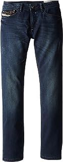Diesel Big Boys' Waykee Regular Fit Straight Leg Superstretch Treated Dark Denim