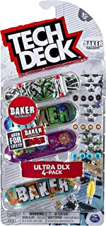 Tech-Deck Ultra DLX 4 Pack 96mm Fingerboards - Baker 2019 Edition