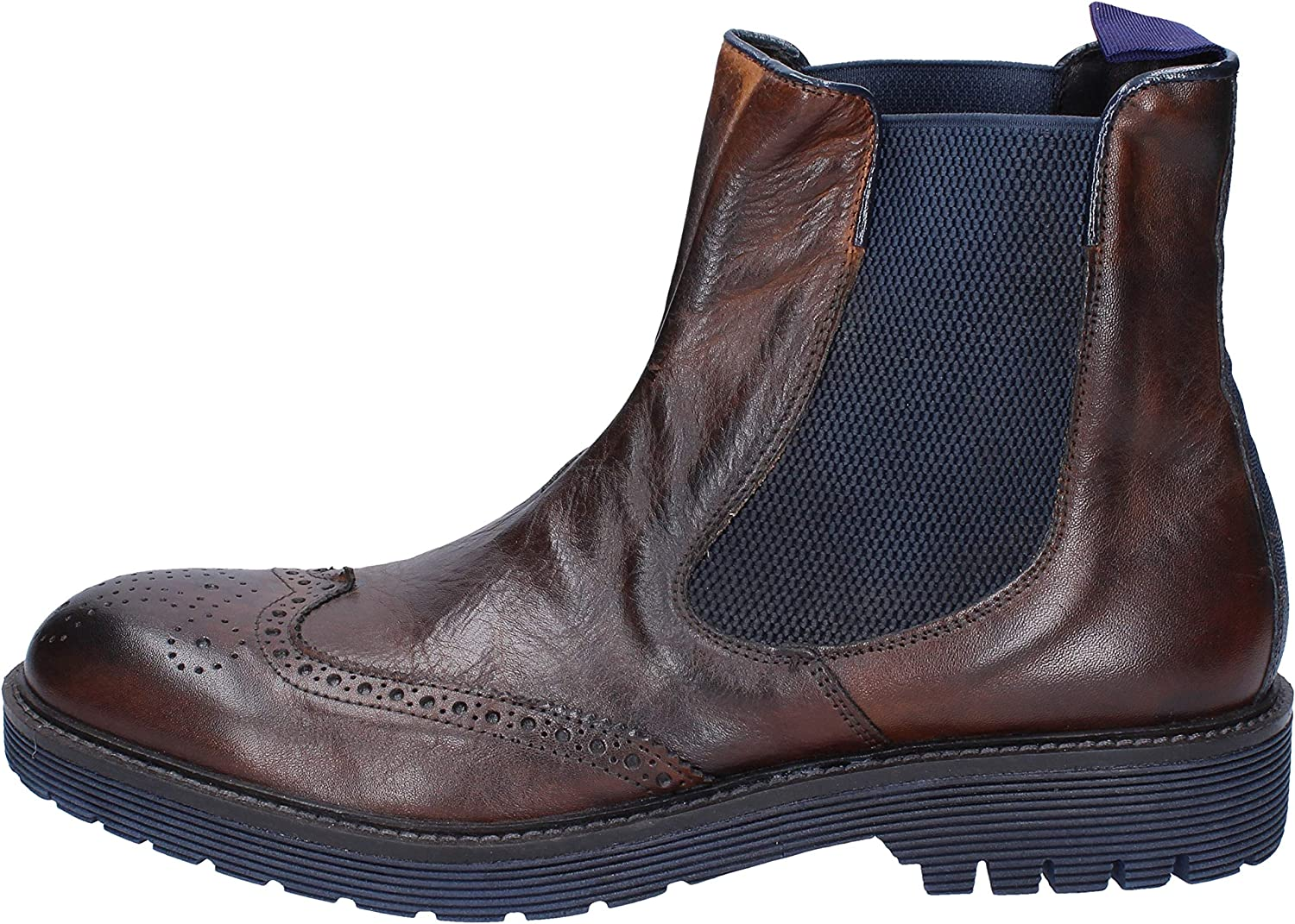 +2 PIU' DUE Boots Mens Leather Brown