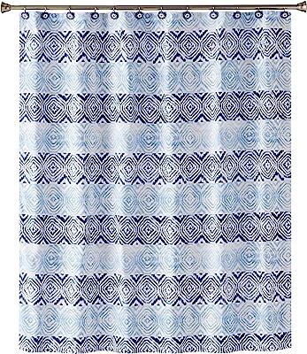 SKL Home by Saturday Knight Ltd. Kali Diamonds Shower Curtain, Fabric, Blue