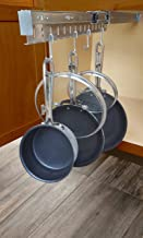 Good Cushion Pan & Lid Holder Dr.Organizer Pot and Pan Cabinet Organizer, Expandable, Steel, 1pc, Gray
