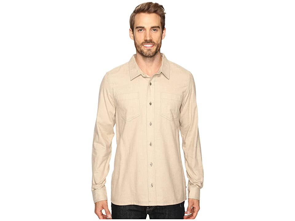 Toad&Co Flannagan Solid Long Sleeve Shirt (Chino Heather) Men
