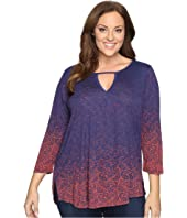 Lucky Brand - Plus Size Gradiant Printed Top