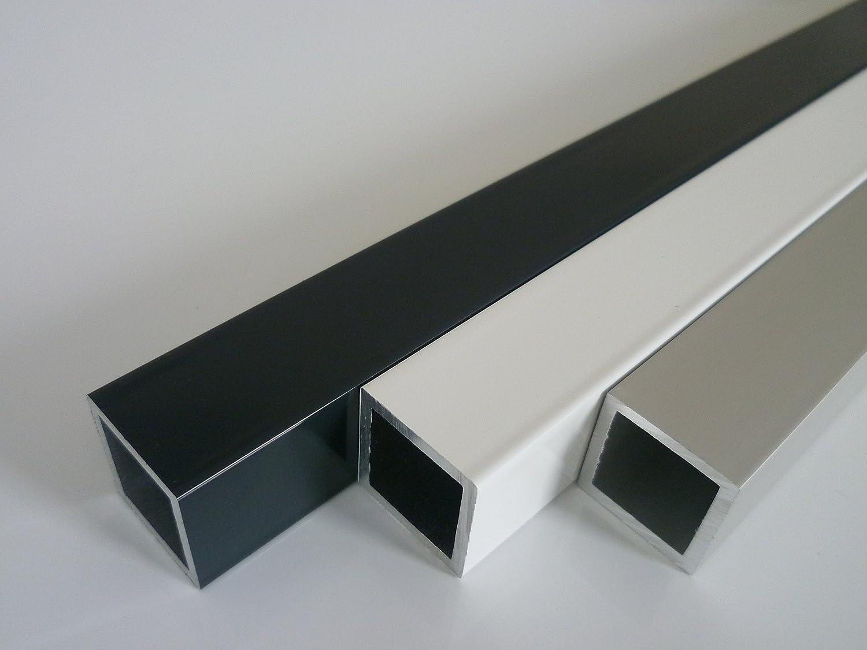 Aluminium Vierkantrohr Rechteckrohr PULVERBESCHICHTET Aluminiumprofil 80x30 RAL