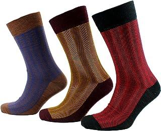 Viyella 3 Pair Pack Mens Herringbone Design Wool Socks