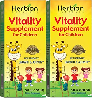 Herbion Naturals Vitality Supplement for Children – Energy Booster,Powerful Immune Support, Promotes Growth, Appetite, Imp...