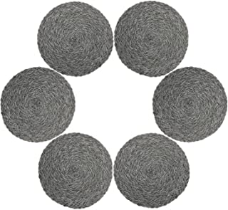Juego de 6 manteles individuales de polipropileno trenzado