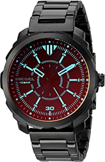 Diesel Men's Machinus Quartz Stainless Steel Three-Hand Watch, Color: Black (Model: DZ1737)