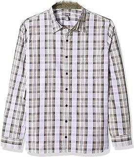 Van Heusen Men's Big and Tall Never Tuck Long Sleeve Button Down Plaid Shirt