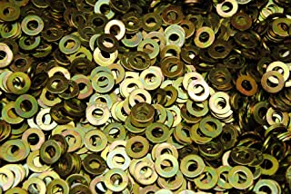 (1500) Hardened 1/4 Flat Washers F436 SAE Grade 8 - Yellow Zinc Plated Thru-Hard