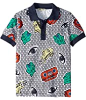 Kenzo Kids - All Over Printed Polo Shirt (Little Kids)