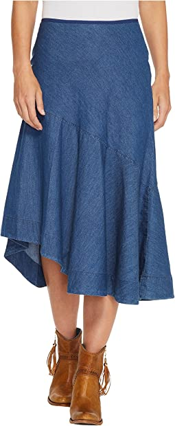 Roper 1313 5 Oz Indigo Denim Asymetric Skirt