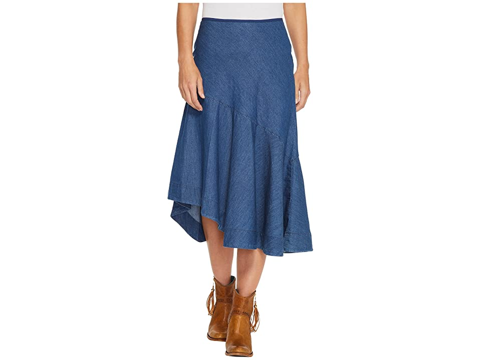 Roper 1313 5 Oz Indigo Denim Asymetric Skirt (Blue) Women