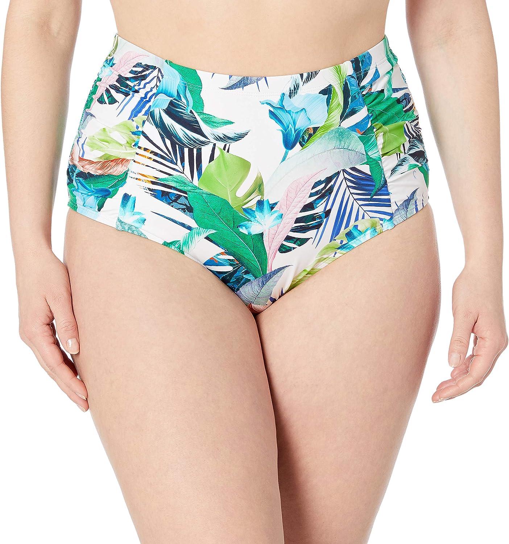 La Blanca Women's Side Shirred High Waist Bikini Swimsuit Bottom