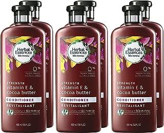 Herbal Essences Biorenew Vitamin E & Cocoa Butter Strength Conditioner, 13.5 Fl Oz (Pack of 6)