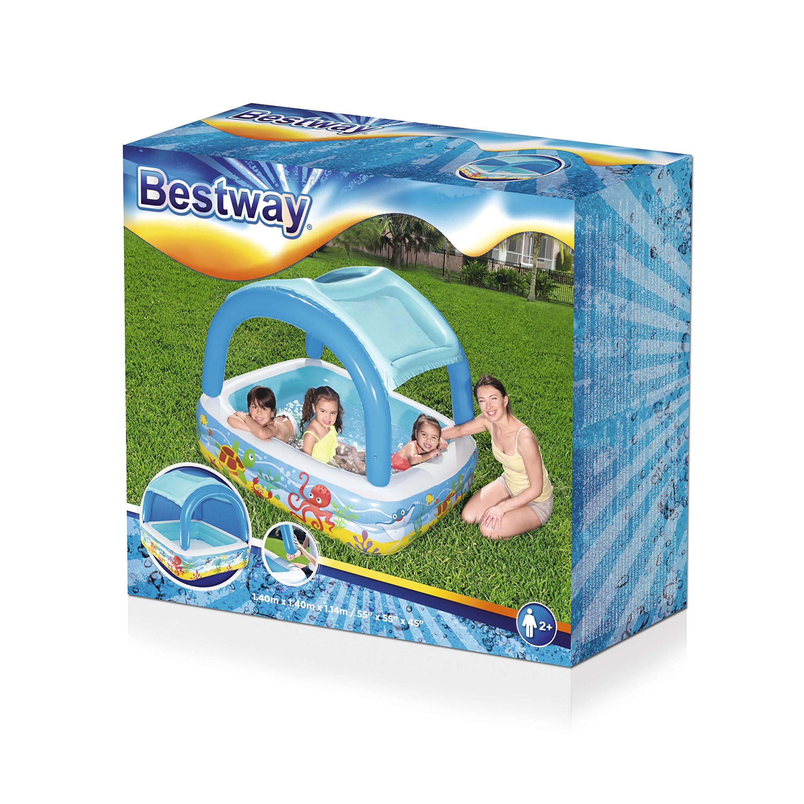 Pabellón de la piscina para niños Bestway, 140 x 140 x 114 cm ...