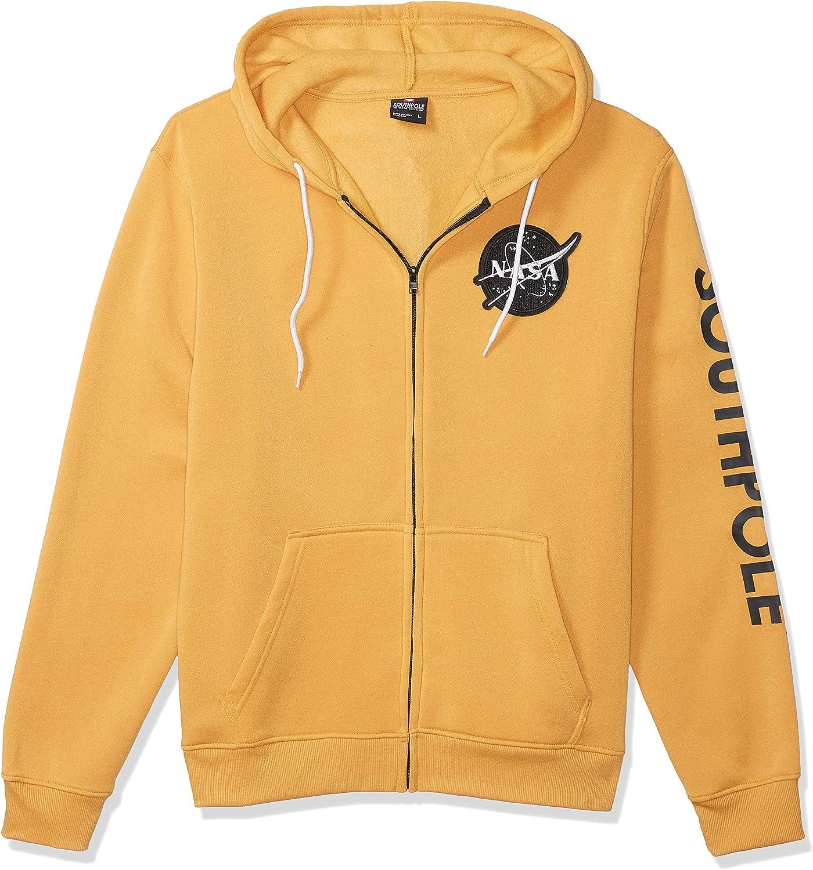 Southpole Men's Choice NASA Max 71% OFF Collection Hoody Sweatshirt Crewne Fleece