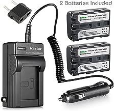 Kastar NPFM50 Battery (2-Pack) + Charger for Sony NP-FM30 NP-FM50 NP-FM51 NP-QM50 NP-QM51 NP-FM55H and CCD-TR DCR-PC DCR-TRV DCR-DVD DSR-PDX GV HVL Series Camcorder (search the model in description)