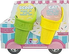 Talisman Designs 3650 Kiddie Reusable Mini-Scoop Cones, Set of 4, Multicolor