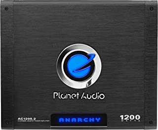 Planet Audio AC1200.2 2 Channel Car Amplifier - 1200 Watts, Full Range, Class A/B, 2-4 Ohm Stable, Mosfet Power Supply, Br... photo