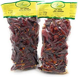 Facino Hot Dried Calabrian Peppers 5.29 ounce - Imported From Crotone Italy - 2 Pack