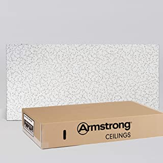 Armstrong Ceiling Tiles; 2x4 Ceiling Tiles - Acoustic Ceilings for Suspended Ceiling Grid; Drop Ceiling Tiles Direct from the Manufacturer; CORTEGA Item 769 – 12 pcs White Lay-in