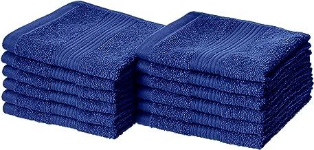 AmazonBasics Fade-Resistant Cotton Washcloths - Pack of...