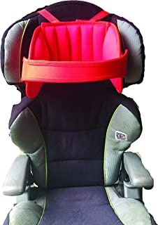 Head Support for Car Seats, Child Car Seat Head Support, Car Seat Head Support Toddler, Adjustable for Children and Adults with Head Protect Pad,Fits Booster and Car seat,Durable Material (Red)
