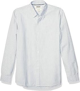 Marca Amazon - Goodthreads Slim-fit Long-Sleeve Placed-Stripe Pocket Oxford Shirt Hombre