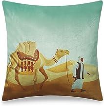 Vellato Modern Cushion Cover Velvet Home Decorative Pillow Case Digital Printing Desert Trip Pillowcase for Sofa Chair Bed...