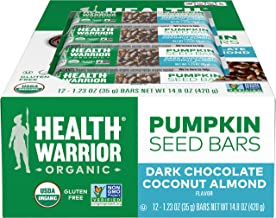 Sponsored Ad - Health Warrior Pumpkin Seed Protein Bars, Dark Chocolate Coconut Almond, 12 Count