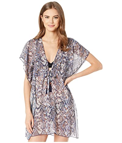 BECCA by Rebecca Virtue Animal Kingdom Sheer Woven Tunic Cover-Up (Python) Women