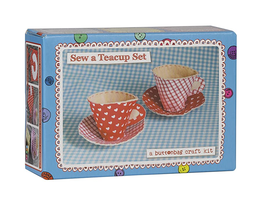 Buttonbag Teacups Sewing Kit by Buttonbag