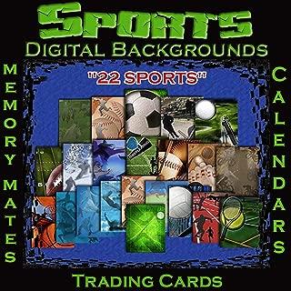 Sports Memory Mates Trading Cards Calendar Templates Digital Photography Backgrounds Digital Sports Backdrops 1A